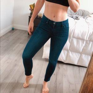Raw Hem Levi's 711 Skinny Jeans